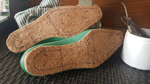 locally sourced insole leather we have back home