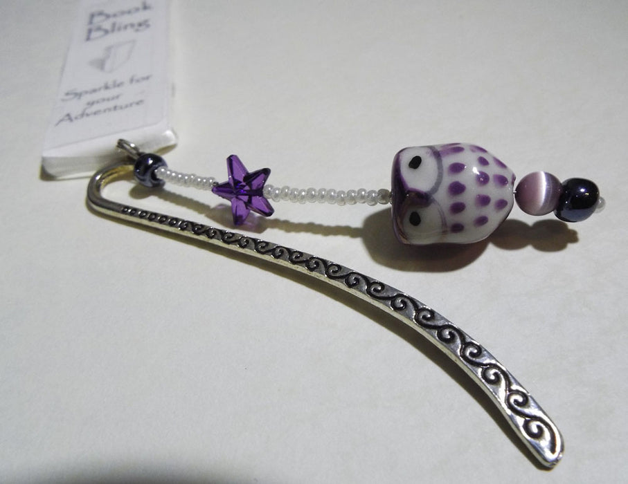 Book Bling Owl Purple