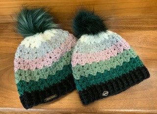 MOMMY AND ME POMPOM BEANIES