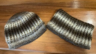 SHIMMERIE RIB HAT AND COWL SET