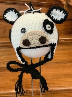 Dairy Cow Earflap Hat