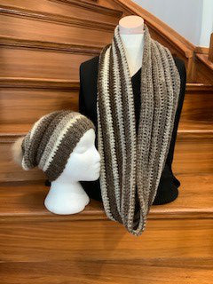 SHIMMERY MILKY WAY SLOUCH AND COWL SET