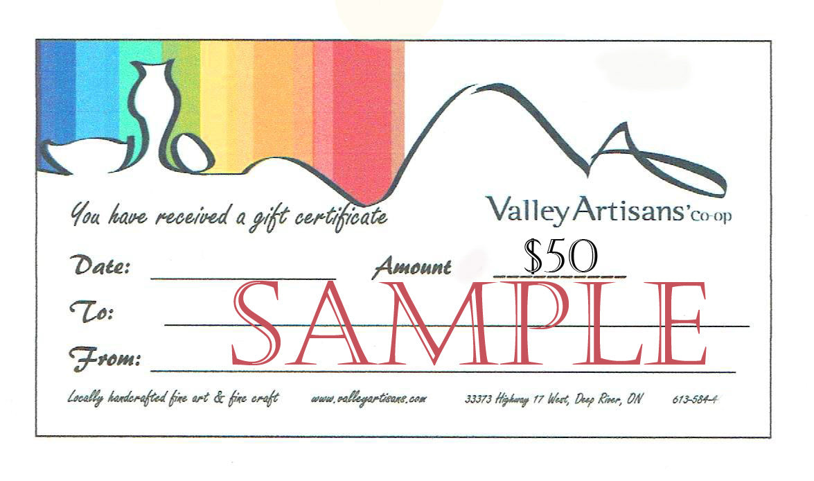Valley Artisans' Gift Card