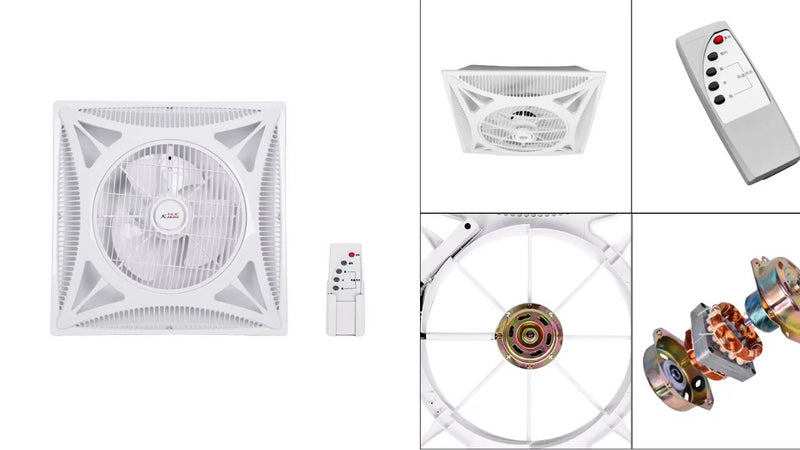 Kanasi Oem 14 Inch 350 Mm Abs False Drop Ceiling Box Fan With Remote