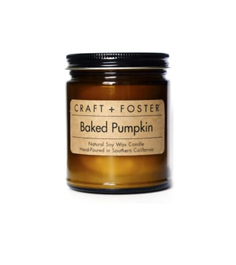Craft + Foster - BAKED PUMPKIN - NATURAL SOY WAX CANDLE