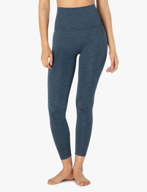 Beyond Yoga - Heather Rib High Waisted Midi Legging