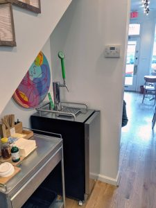 coffee kegerator in nook