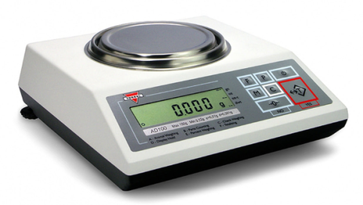 Torbal AD6200 Precision Scale LCD w/ RS232, USB, Clock, Backlit, 6200 g Capacity,  g Readability