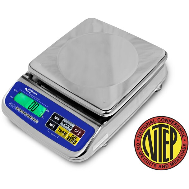 Intelligent Weighing AGS-300BL Dual Range Toploading Bench Scale, 150/300 g x 0.05/0.1 g