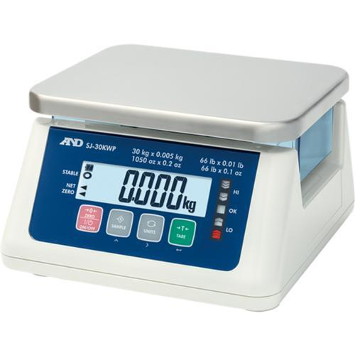 AND Weighing SJ-6000WP Washdown Compact Scale, 6000 g Capacity,  g Readability