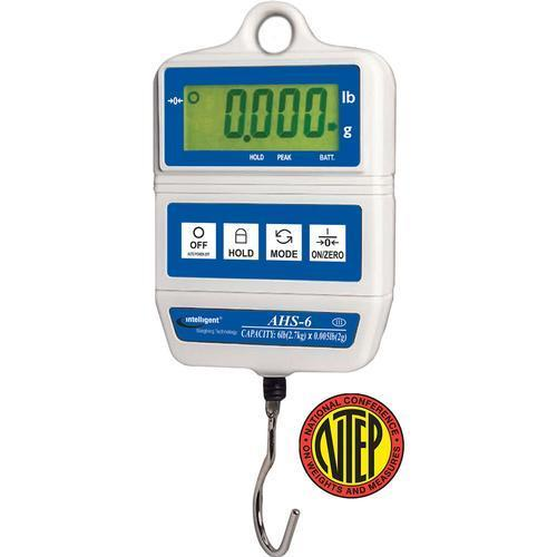 Intelligent Weighing AHS-60 AHS NTEP Digital Hanging Scale, 60 g Capacity, 0.00002 g Readability