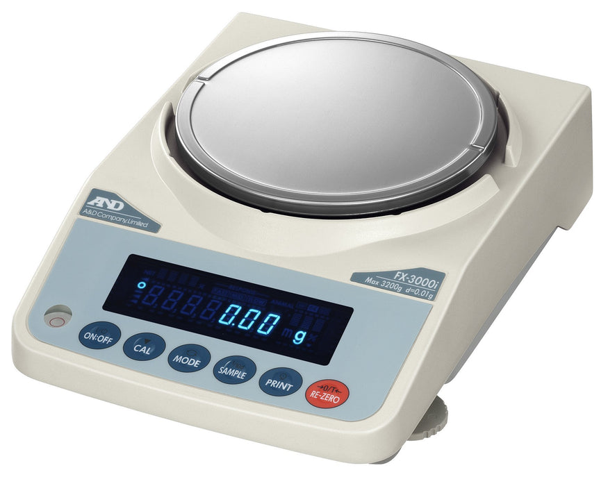 AND Weighing FX-2000iNC Precision Balance, 2200 g Capacity, 0.01 g Readability
