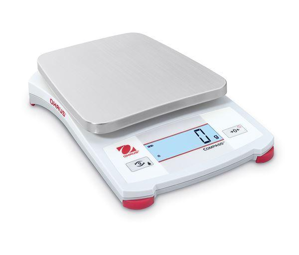 Ohaus CX2200P COMPASS CX Energy-Efficient Portable Scale, 2200 g Capacity, g Readability