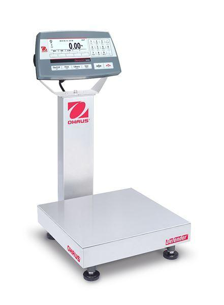 Ohaus D52P50RQR1 DEFENDER 5000 - D52 Bench Scale, 100 g Capacity, g Readability