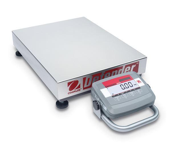 Ohaus D31P150BL5 DEFENDER 3000 LOW PROFILE Bench Scale, 330 g Capacity, g Readability