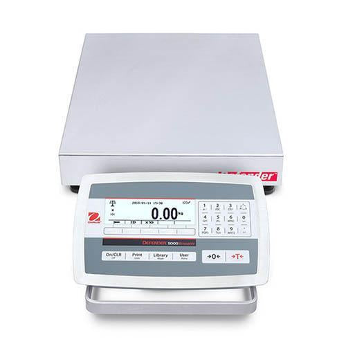 Ohaus D52XW25WQR5 DEFENDER 5000 WASHDOWN  Bench Scale, 50 g Capacity,  g Readability