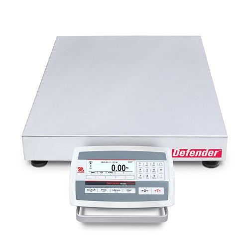 Ohaus D52XW50WTX5 DEFENDER 5000 WASHDOWN Bench Scale, 100 g Capacity,  g Readability