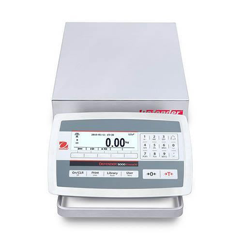 Ohaus D52XW5WQS5 DEFENDER 5000 WASHDOWN Bench Scale, 10 g Capacity,  g Readability