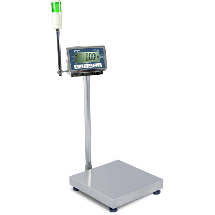 Intelligent Weighing VFSW-600-24 SS Washdown Checkweighing Bench Scale, 600 g Capacity, 0.0001 g Readability