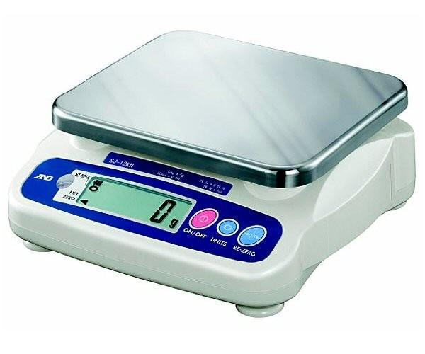 A&D SJ-5001HS SJ Series Low Profile Digital Scale, 5000 g Capacity, 1 g Readability