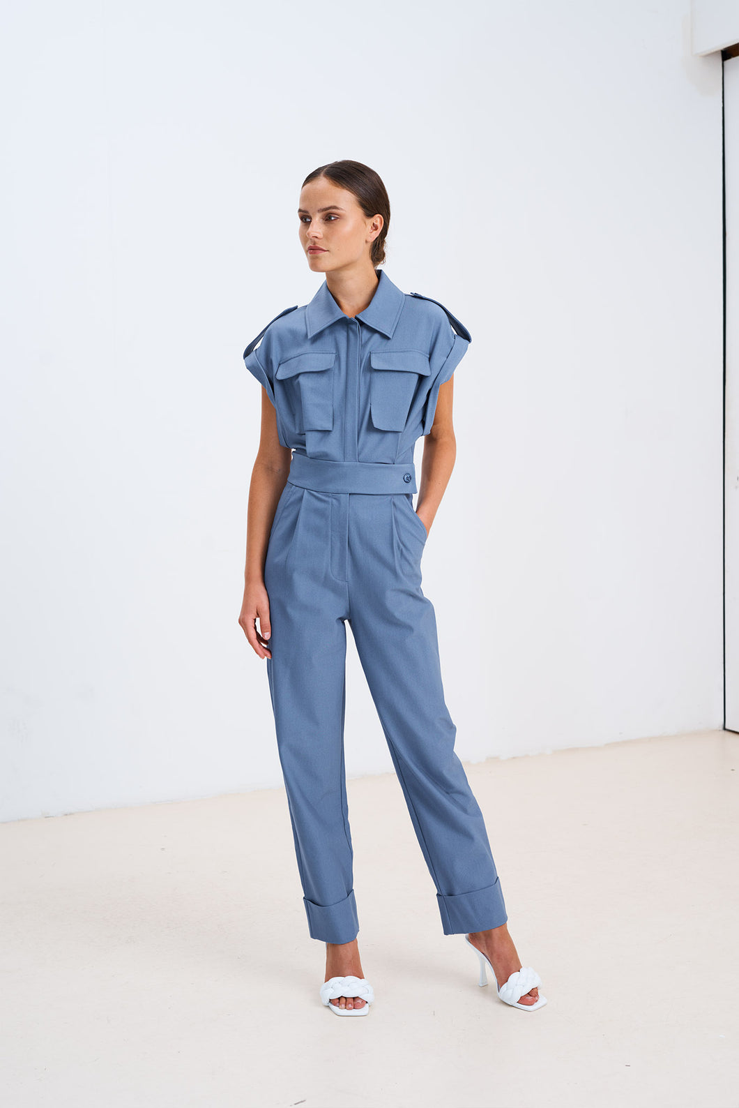CHPTR-S Forest Jumpsuit Ice Blue