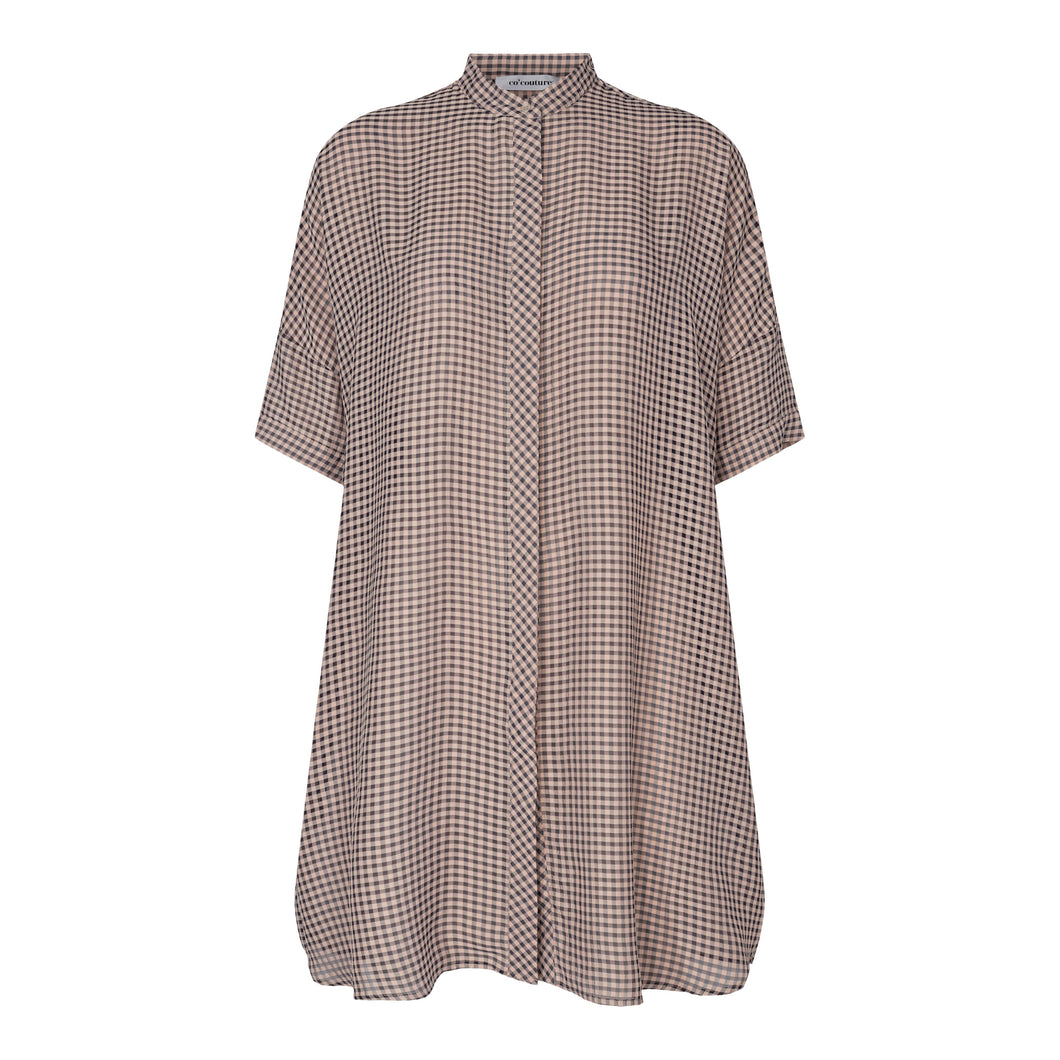 Co'couture Amalie Check Tunic Shirt
