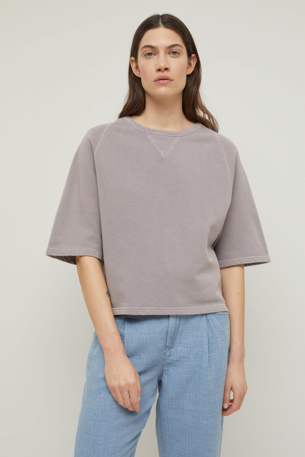 Closed sweat shirt dark mauve