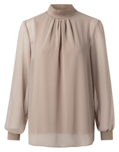 Afbeelding in Gallery-weergave laden, Yaya layered top with stand up collar dunes