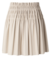 Afbeelding in Gallery-weergave laden, Yaya faux leather ruffle skirt with smocked waist