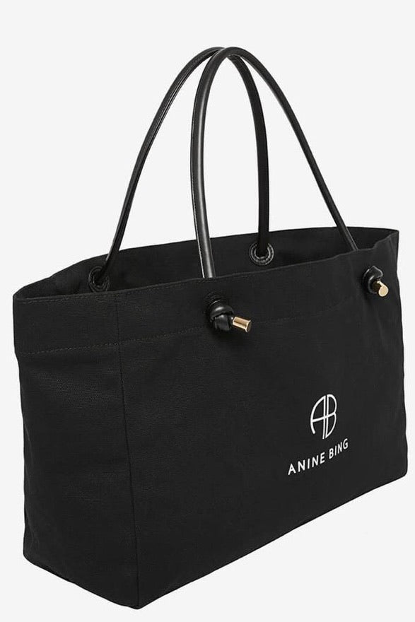 Anine Bing medium safron tote black