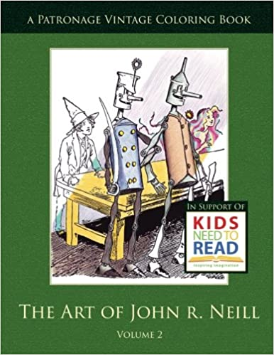 The Art of John R. Neill Patronage Vintage Coloring Book, Volume 2 by Heidi Berthiaume