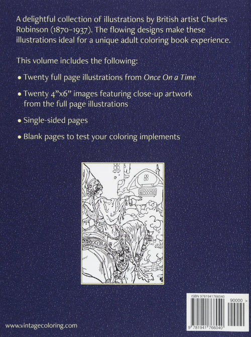 The Art of Charles Robinson Vintage Coloring Book, Volume 1 by Heidi Berthiaume