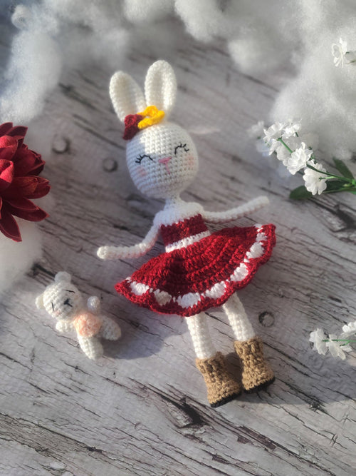 Amigurumi Bunny Girl Doll by Forever Dream Dolls