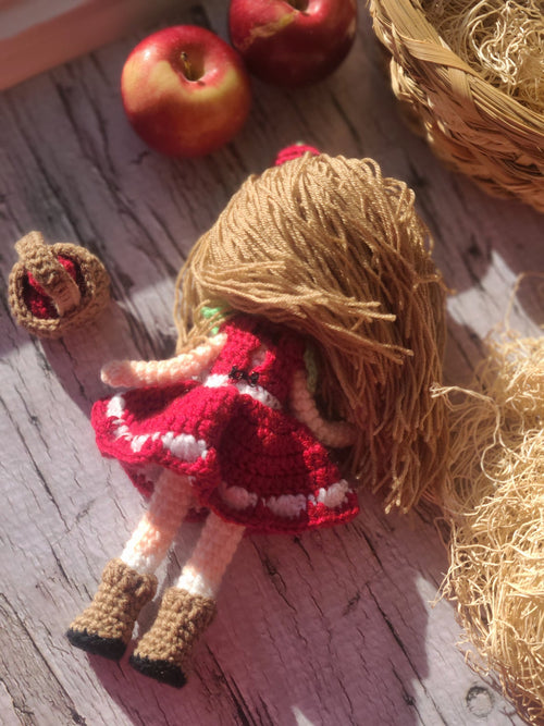 Amigurumi Apple Crochet Doll by Forever Dream Dolls
