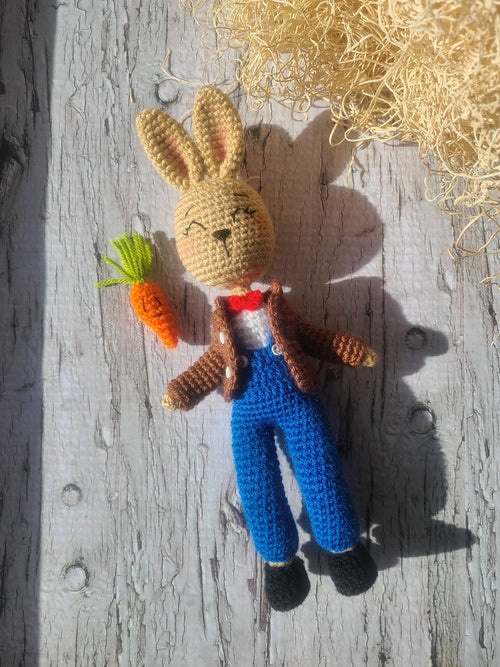 Amigurumi Easter Bunny Boy Crochet Doll by Forever Dream Dolls