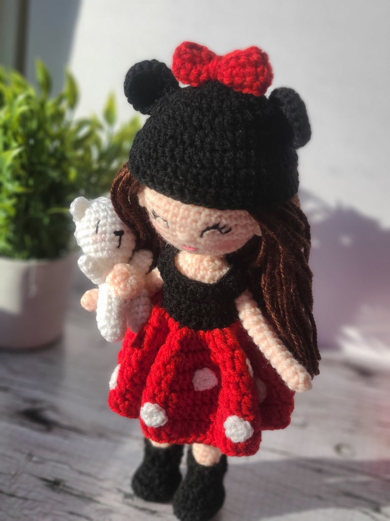 Amigurumi Mouse Costume Crochet Doll by Forever Dream Dolls