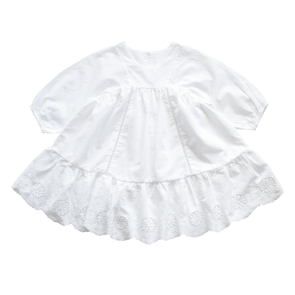 Aubrie Anne Of Avonelea Dress - Broderie Anglaise Blanco