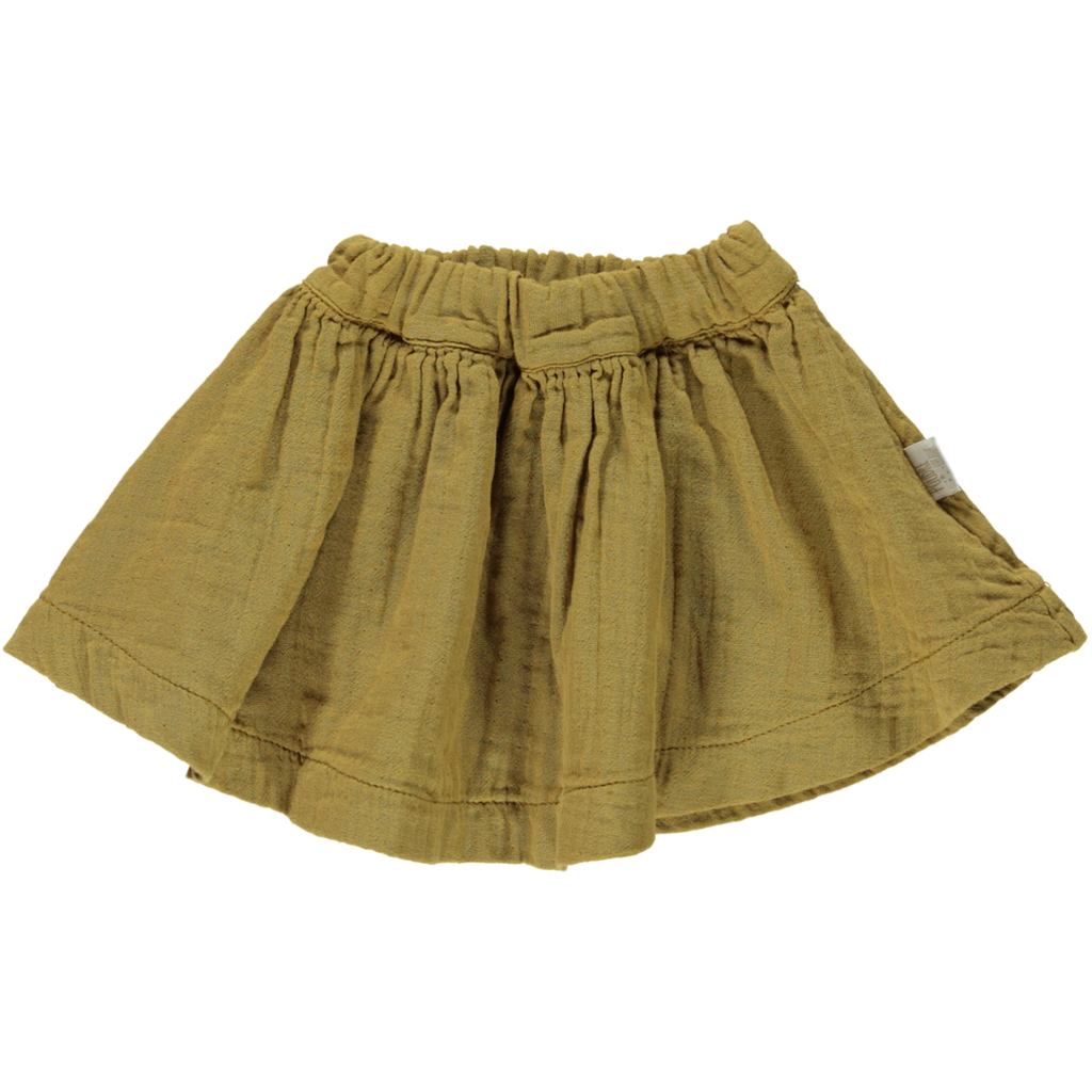 Poudre Organic Muslin Cotton Gathered Skirt - Cassonade
