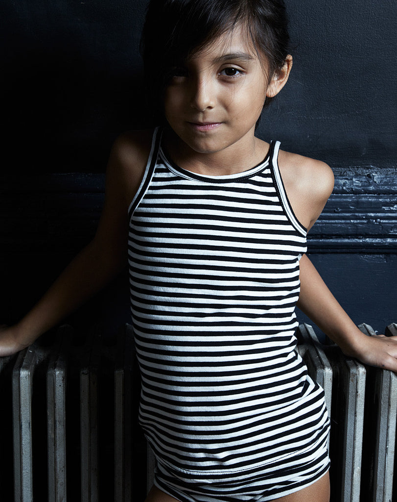 Goat Milk Girls Tank Top - Striped Jersey