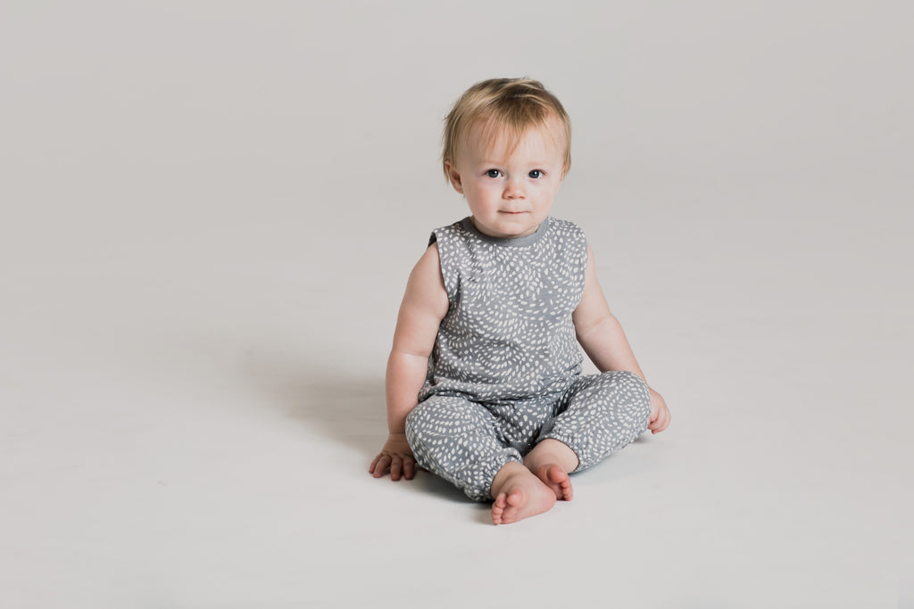 Rylee + Cru Baby Sleeveless Jumpsuit - Dash Waves - last one 0/3 months