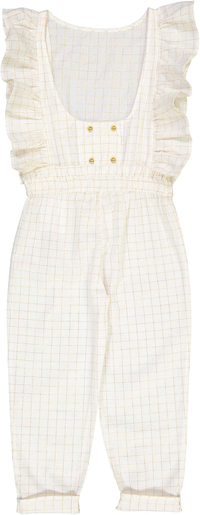 Louis Louise Gold Check Lorenzana Overalls