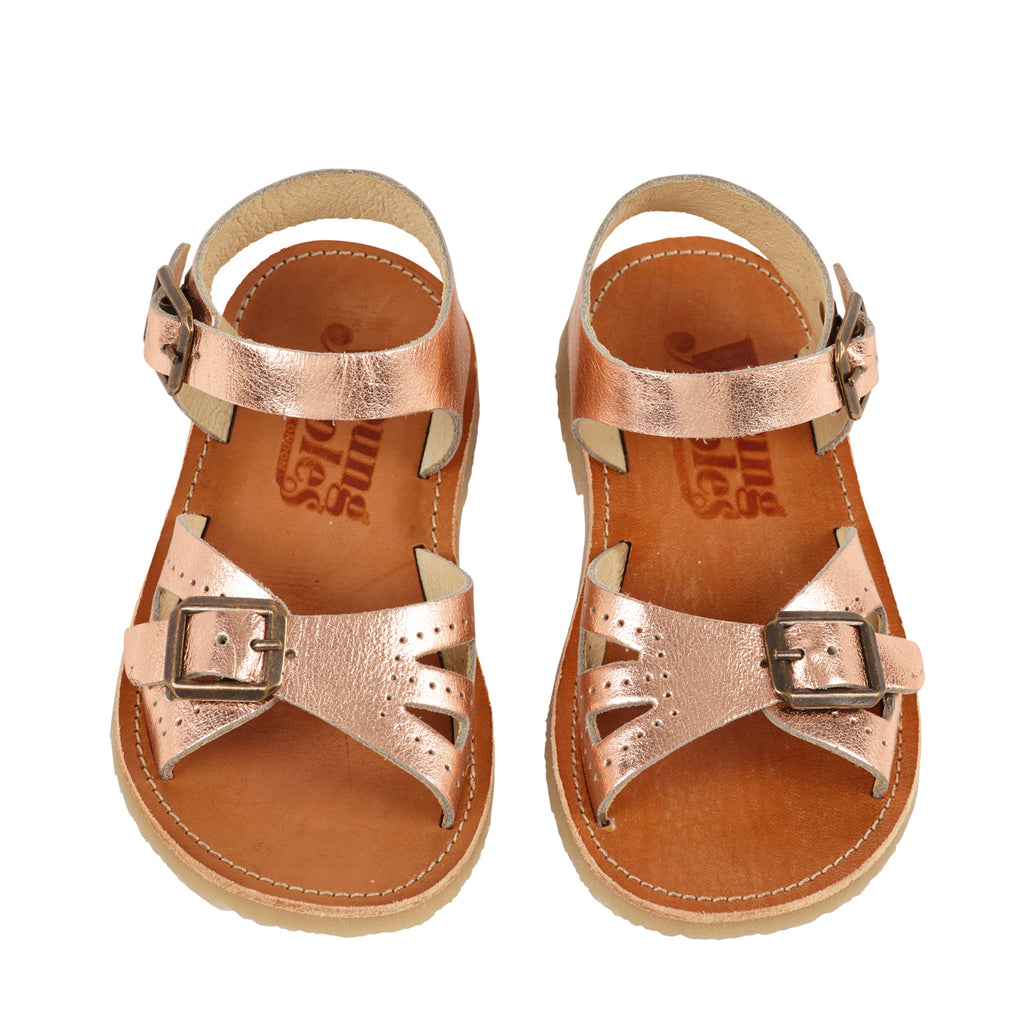 Young Soles Pearl Sandal - Rose Gold