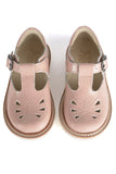 Young Soles Rosie T-Bar - Blush Pink Patent