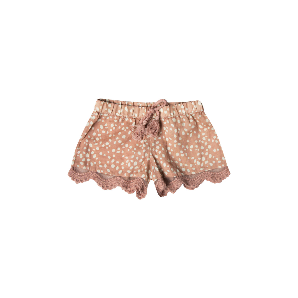 Rylee + Cru Scallop Shorts - Pebble