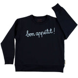 Tiny Cottons Bon Appetit Sweatshirt - Navy/Light Blue