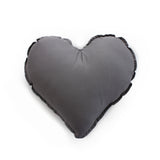 Essi + Co Charcoal Heart Cushion