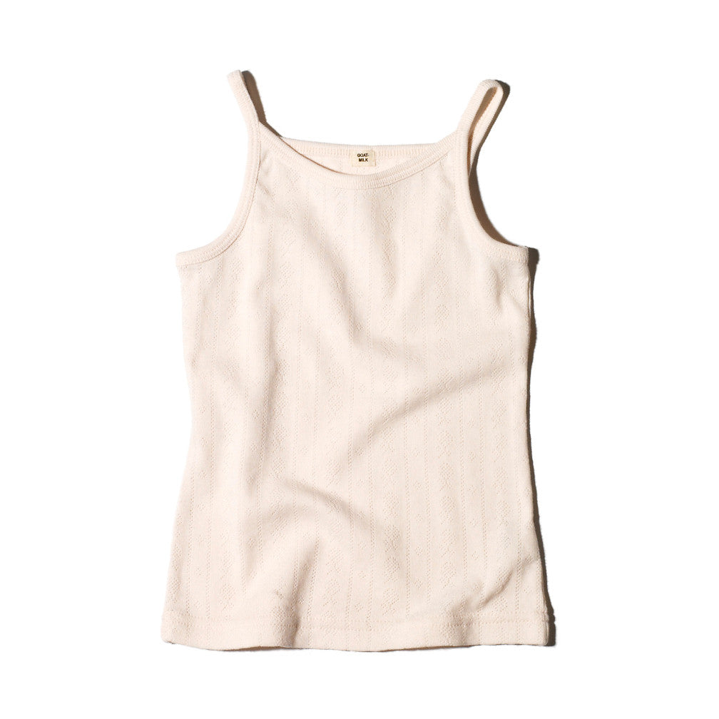Goat Milk Girls Tank Top - Pointelle Rose