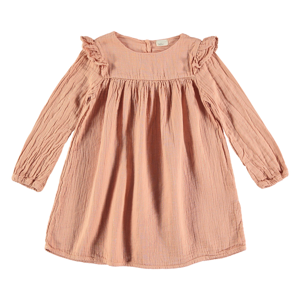 Búho Gabriela Girls Dress - Rose