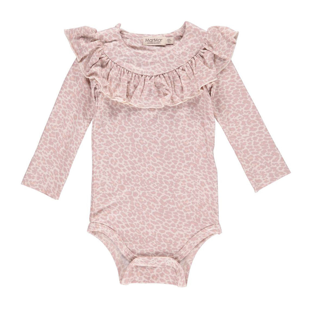 MarMar Copenhagen L/S Leo Bibbi Bodysuit - Faded Rose
