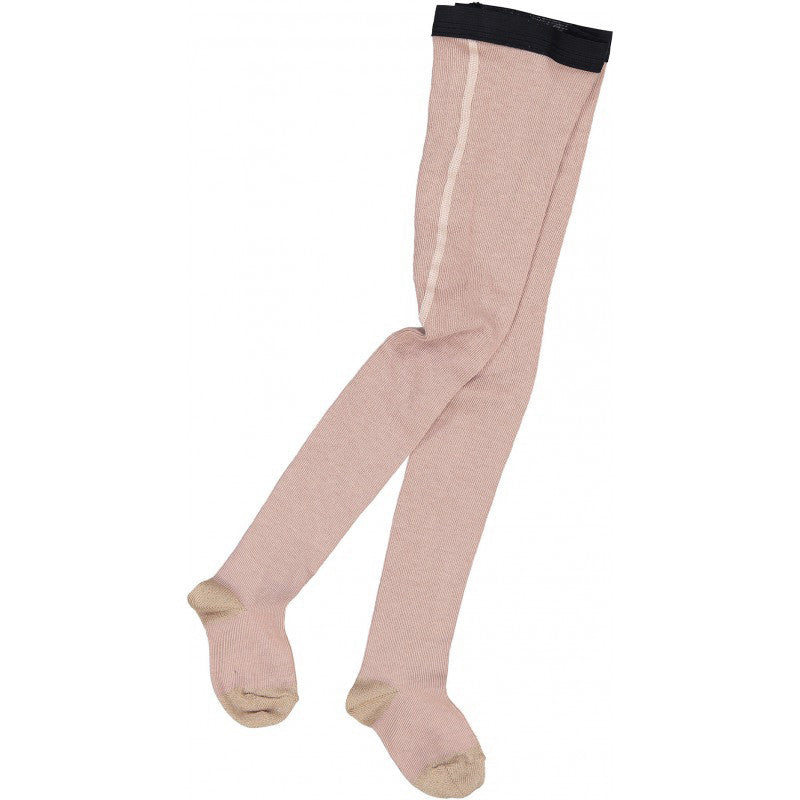 Louis Louise Cotton/Lurex Luna Tights - Dark Pink/Gold